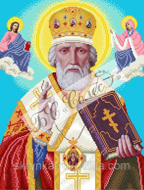 Вишивка ікони бісером Святий Миколай  продажа f16d2ec2e37a6