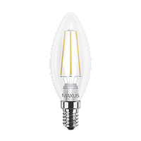 LED лампа MAXUS Filament C37 4W 4100K 220V E14 (1-LED-538)