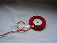 "Блестящая лента""парча"",цвет красный(ширина0.5см)1 рулон-25 ярдов"