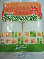 Полотенце бумажное в рулоне белое №2 / Ruta