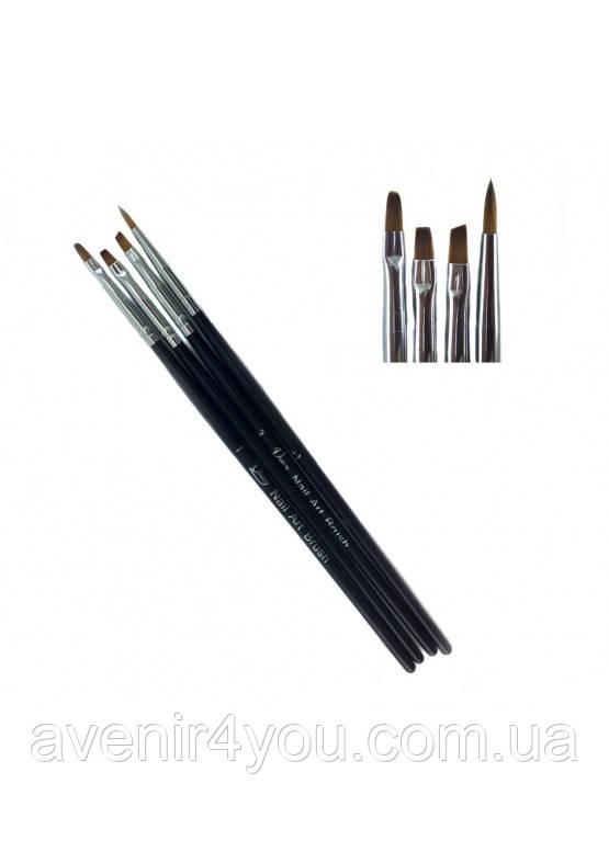 Набор кистей для дизайна (№ 1, 2, 3, 4) Unioy арт. 44445