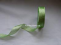 "Блестящая лента""парча"",цвет зеленый(ширина2.5см)1 рулон 25 ярдов"