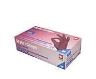 Перчатки нитриловые бордо без пудры AMPri Style Color Grape 4.0г, 100 шт