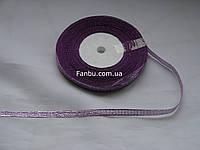 """Блестящая лента""""парча"""",цвет сиреневый(ширина0.5см)1 рулон-25 ярдов"""