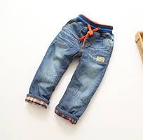 Утеплені джинсові штани на хлопчика