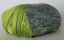 Пряжа Сеам Silk 100% Салат