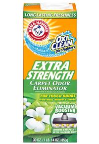 ARM&HAMMER Дезодорант-порошок для килимів, Екстра Сила ARM & HAMMER Plus OxiClea Dirt Fighters Carpet Odor 850