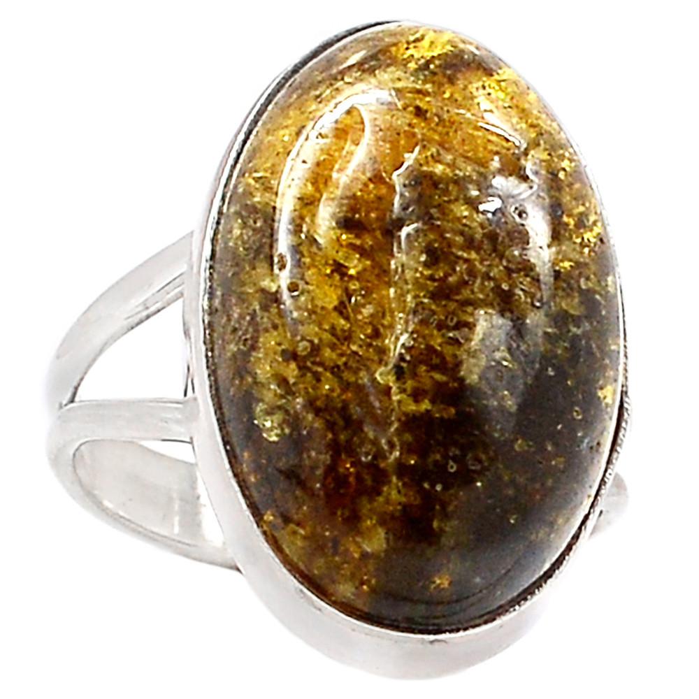 Янтарь, серебро 925, кольцо, 293КЦЯ