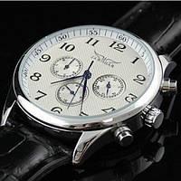 Мужские классические часы Jaragar Elite White