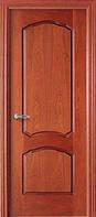 Двери межкомнатные шпон красного дерева фигурная филенка,глухие