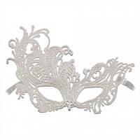Венецианская маска Кружевная Леди белая