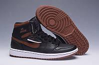 Мужские Баскетбольные кроссовки Air Jordan Retro 1 (Black/Brown) , фото 1