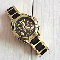 Женские часы Geneva Gold Pearl черные