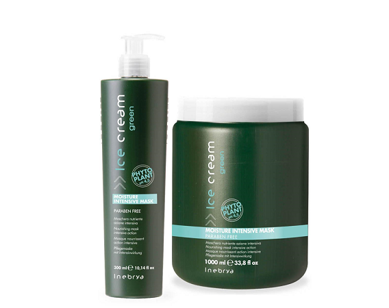 Inebrya Green Moisture Intensive Маска увлажняющая для волос 300 мл.