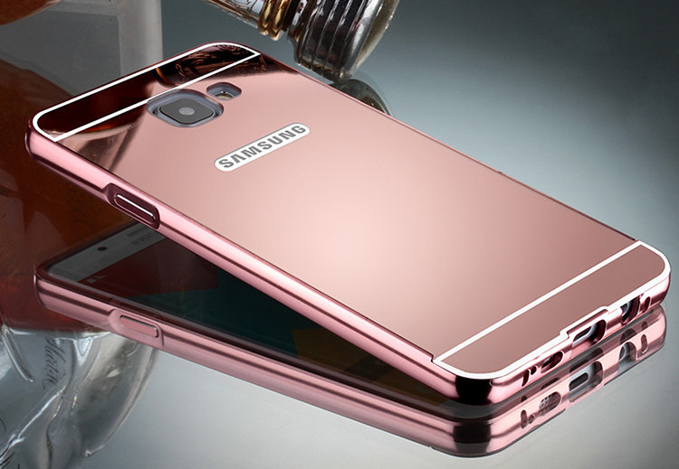 Металлический зеркальный бампер для Samsung Galaxy A5 A510 2016
