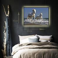"""Светодиодная картина """"Пара лошадей"""""""