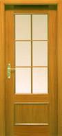 Двери межкомнатные шпон кедра прямоугольная филенка,под стекло