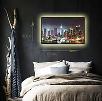 """Светодиодная картина """"Ночной Нью-Йорк"""""""