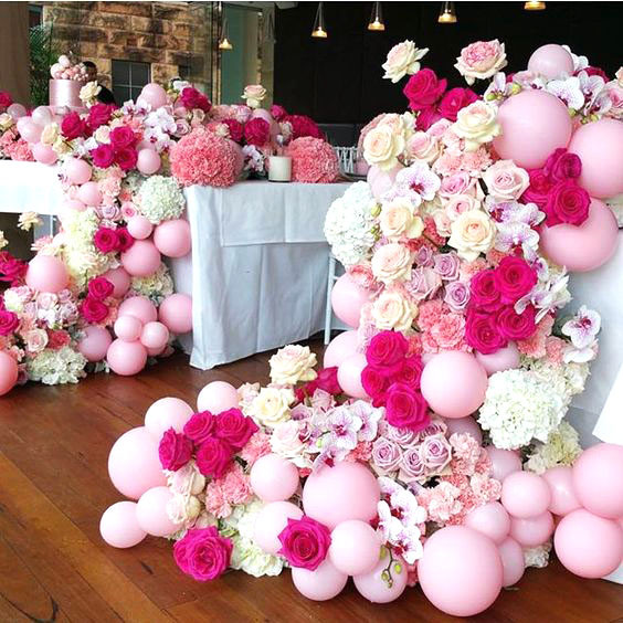 свадебные воздушные шарики