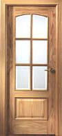 Двери межкомнатные шпон дуба фигурная филенка,под стекло
