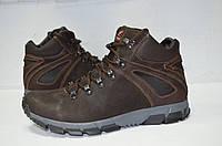 Зимние мужские ботинки замшевые коричневые.молодежные