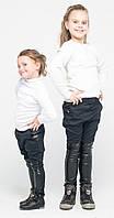 Лосины ботфорты для девочек джинс в горох