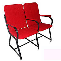 """Кресло для актового зала """"Студент"""" 106х60х90 см. С мягкими подлокотниками"""