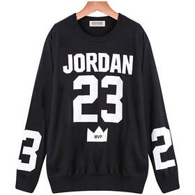 Свитшот мужской с принтом Jordan 23 MVP   Кофта Джордан 23