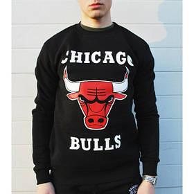 Свитшот мужской Chicago Bulls   Кофта черная