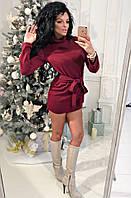 Ангора платье- туника с вшитым поясом