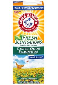 ARM&HAMMER Дезодорант-порошок для килимів,Cвіжий Бриз Fresh Scentsations Carpet Odor Eliminator-FreshBreez 850