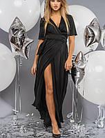 Платье в пол с разрезом   2072 br черный