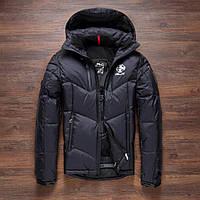 Чоловічий зимовий пуховик. Лижний пуховик RLX. Чоловіча зимова куртка. Модель 968, фото 3