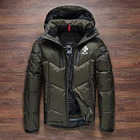 Чоловічий зимовий пуховик. Лижний пуховик RLX. Чоловіча зимова куртка. Модель 968, фото 4