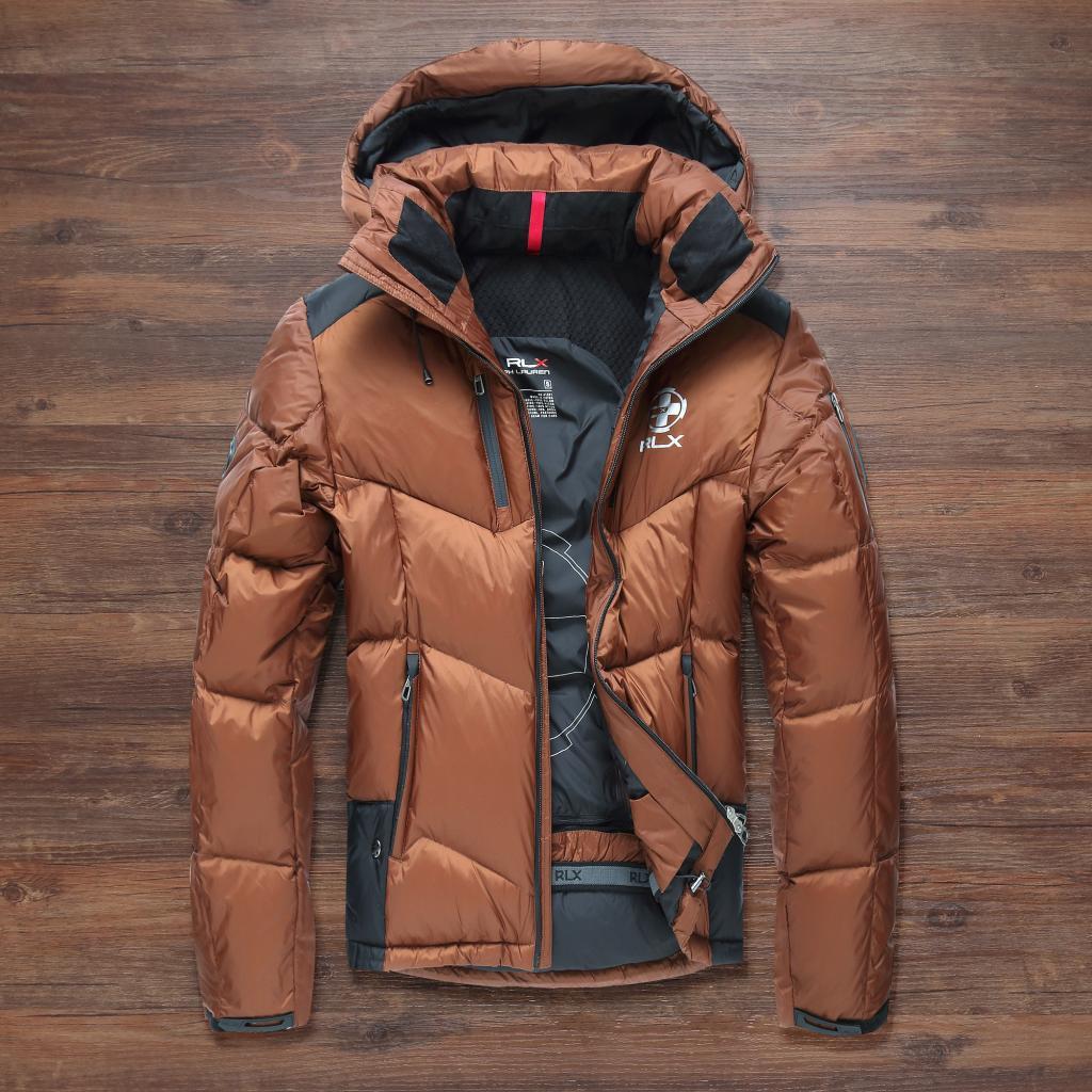 Чоловічий зимовий пуховик. Лижний пуховик RLX. Чоловіча зимова куртка. Модель 968