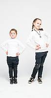 Лосины детские с кожей на коленях джинс в горох