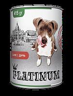 PLATINUM Wild game Cбалансированный корм для собак с мясом дичи 415 г/24