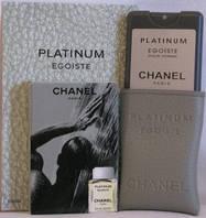 Мужской минипарфюм Chanel Egoiste Platimun 20ml - духи в коже