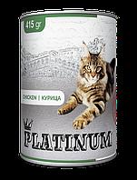 PLATINUM Chicken Cбалансированный корм для кошек с мясом курицы 415 г/24