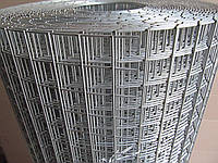 Сварная оцинкованная сетка для клеток. Ячейка: 20х20мм., Проволока: 1,6мм, Ширина: 1м.