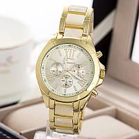 Женские часы Geneva Gold Pearl бежевые