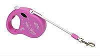 "Поводок-рулетка ""Мини"" FD800, розовая, голубая, лента (2.5м*12 кг)"