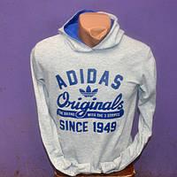 Чоловіча тепла  спортивна кофта   Adidas Originals (світло- сіра )