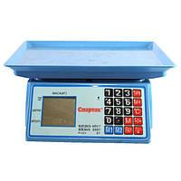 Весы торговые 50 кг Domotec MS-986, настольные, 2 дисплея, память, тарирование, аккумулятор 6В