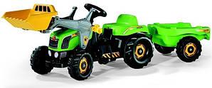 Трактор Kid з причепом та ковшом зелений