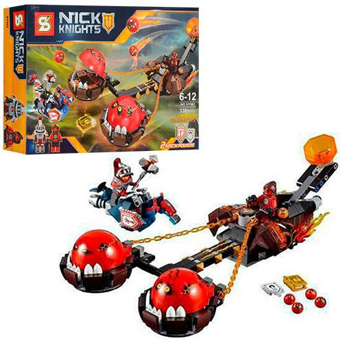 Конструктор Безумная колесница укротителя Bela Nexo Knights 338 дет.
