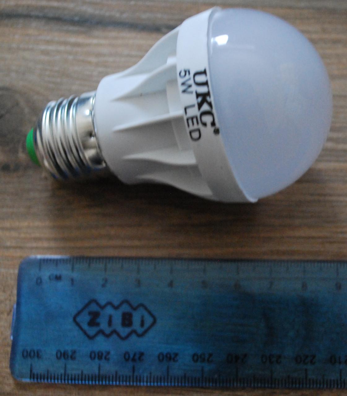 Светодиодная LED лампочка UKC 5W E27 5шт, А291