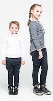 Штаны для девочек классические джинс в горох