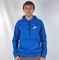 Чоловіча кофта - кенгурушка  в стилі Nike (синя ), фото 1