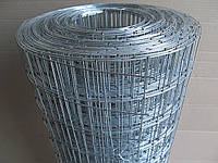 Сварная оцинкованная сетка для клеток. Ячейка: 50х50мм., Проволока: 1,4мм, Ширина: 1м.